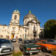 Scene on one of the central streets of Lviv — Stock Photo