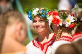 Unidentified girl during Ivan Kupala Day — Stock Photo