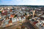 Top view from Lviv City Hall — Stock Photo