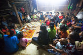 Unidentified people Orang Asli in his village — Photo