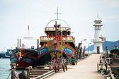 Лодки в рыбацкая деревня Банг Бао — Стоковое фото