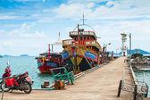 Boats in the Bang Bao fishing village — Stock Photo