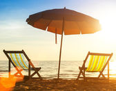 Pair of beach loungers — Stock Photo