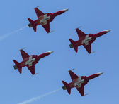 Aerobatic demonstration during the International Aerospace Exhibition ILA Berlin Air Show-2014 — Stock Photo