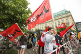 Rally against AfD — Stock Photo