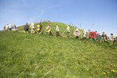 Unidentified participants of Rekawka - Polish tradition — Stock Photo