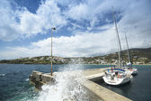 Marina of Andros — Stock Photo