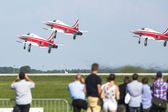 Aerobatic demonstration during the International Aerospace Exhibition ILA Berlin Air Show-2014. — Stock Photo
