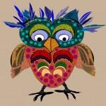Cute Owl, cartoon drawing — Stock Vector #47183277