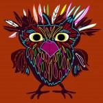 Cute Owl, cartoon drawing — Stock Vector #47183293