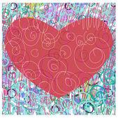 Srdce na den svatého Valentýna — Stock vektor