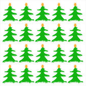 Christmas Trees on a white background — Stock Vector