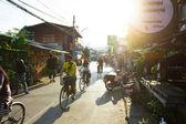 Street scene in Pai — Foto Stock