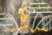 Grand Cascade Fountains at Peterhof — ストック写真