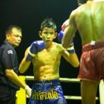 Постер, плакат: Unidentified Muay Thai fighters compete