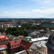 Old town of Kracow from St. Mary's Church — Stock Photo