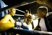 Unidentified Muaythai fighter in ring during match — ストック写真