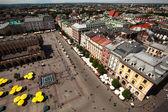 Main Square - historical center of Krakow — Stock Photo