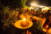 Unidentified local people during the celebration Buddhist festival Chotrul Duchen — Стоковое фото