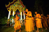 Unidentified buddhist monks during the celebration Buddhist festival — Stock Photo