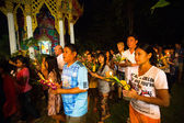 Unidentified local people during the celebration Buddhist festival Chotrul Duchen — Foto Stock