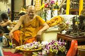 Unidentified monk master Yantra Tattoos — Stock Photo