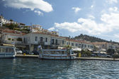 Marina of Poros, is a Greek island in southern part of Saronic Gulf — Zdjęcie stockowe