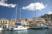 Marina of Poros, is a Greek island in southern part of Saronic Gulf — Stok fotoğraf
