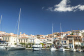 Marina of Poros, is a Greek island in southern part of Saronic Gulf — Stock Photo