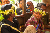 Unidentified people Orang Asli in his village — Stockfoto