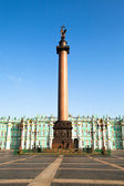 Alexander Column, is the focal point of Palace Square — Stock Photo