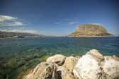 Greek town Monemvasia in Laconia south-eastern peloponnese — Stock Photo