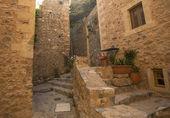 Grekland monemvasia traditionellt beskådar av sten hus — Stockfoto