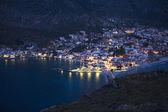 Marina of Monemvasia in night time — Stock Photo