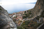 Monemvasia - view of the lower town — Stock Photo