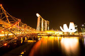 Marina Bay Sands Hotel in night — Stock Photo