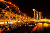 Marina Bay Sands Hotel in night — Stok fotoğraf