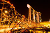 Marina Bay Sands Hotel in night — Stockfoto