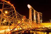 Marina Bay Sands Hotel in night — Stockfoto