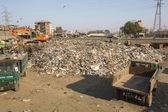 Yemek ve yurt içi çöp çöp yığını — Stok fotoğraf