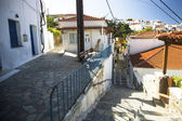 Street of Andros,Greek  island — Stock Photo