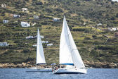 "Sailboats  in sailing regatta ""11th Ellada 2014"" — Stock Photo"