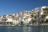 Marina of Poros, Greek island — Stock fotografie