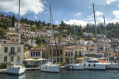 Marina of Poros, Greek island — Stockfoto