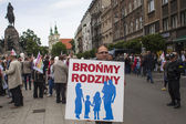 Rally against abortion in defense of life and family — Stock fotografie