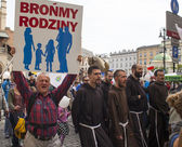 Rally against abortion in defense of life and family — Стоковое фото