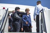 канцлер германии ангела меркель о космической выставке ila — Стоковое фото