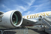 The aircraft Emirates Airbus A380 — Stock Photo