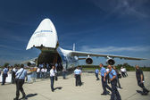 Jet aircraft Antonov An-124 Ruslan Volga-Dnepr — Stockfoto