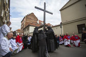 Participants of the Way of the Cross on Good Friday — Stock Photo